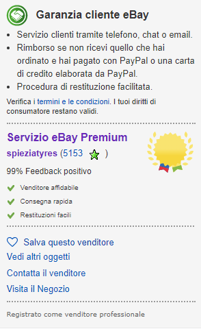 Ebay Pneumatici
